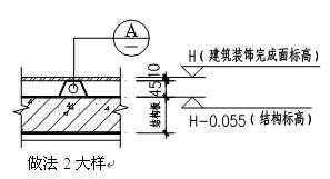 住宅施工图优化设计的楼面标高合理设置之厅房